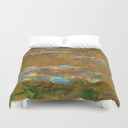 """Claude Monet """"The Water Lily Pond"""", c.1917-19 Duvet Cover"""
