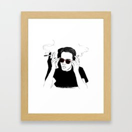 You can't be cooler than this. Framed Art Print