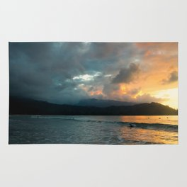 Hanalei Sunset (panorama) Rug