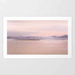 When clouds turn to mountains Art Print