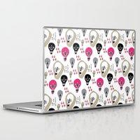skulls Laptop & iPad Skins featuring Skulls by KatrinDesign