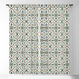 Spanish Tile Pattern – Andalusian ceramic from Seville Blackout Curtain