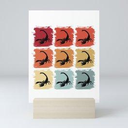 Retro Pop Art Scorpion Animal Gift Idea Mini Art Print