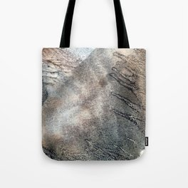 frozen reflection of pond Tote Bag
