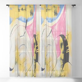 Serious Inquiries Only Sheer Curtain