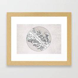 Mountains // Waves Framed Art Print