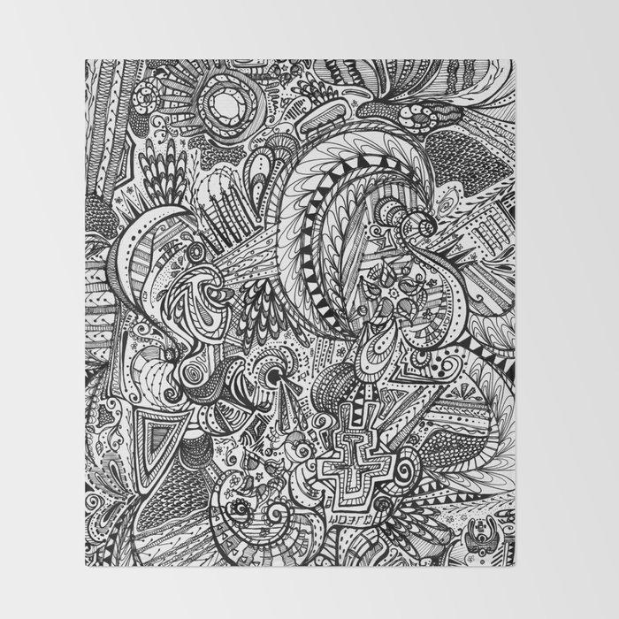 Doodle Throw Blanket