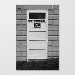 No Loitering Canvas Print