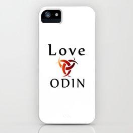 Love Odin- symbol of the horns of Odin, a satanist symbol iPhone Case