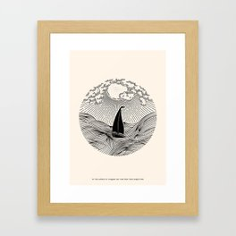 IN THE WAVES OF CHANGE WE FIND OUR TRUE DIRECTION Framed Art Print