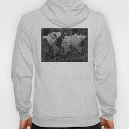 world map mandala black and white 3 Hoody