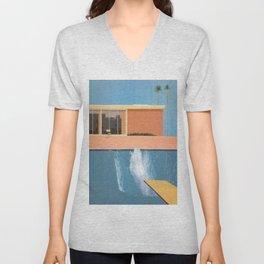 Hockney A Bigger Splash Unisex V-Neck