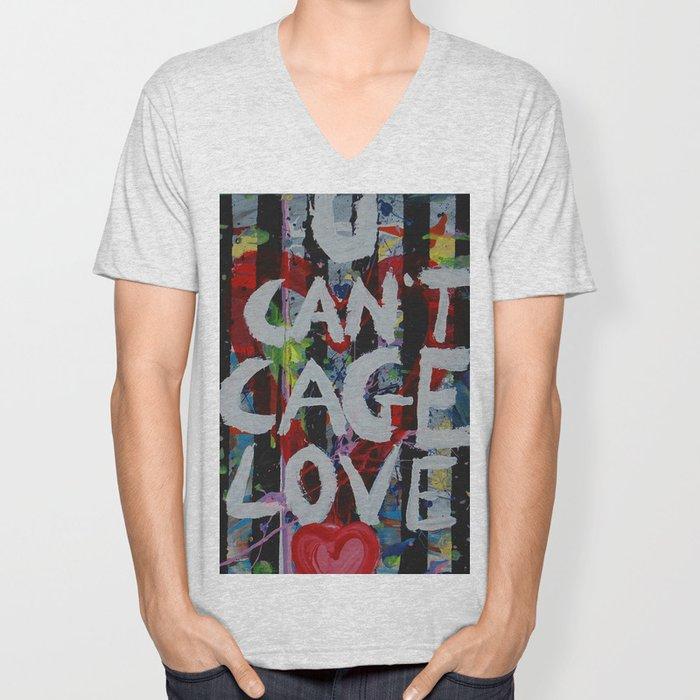 U Can't Cage Love Unisex V-Neck