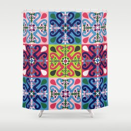 Colonial tiled pattern Shower Curtain