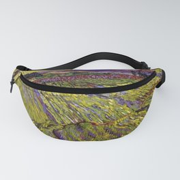 Landscape with Ploughed Fields by Vincent van Gogh Fanny Pack
