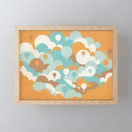 Balloons among clouds Framed Mini Art Print