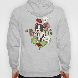Boston Terrier Puppy Bouquet Hoody