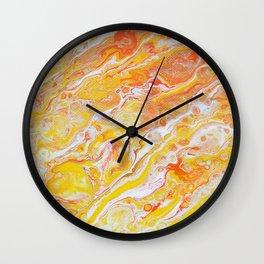 Autumn Abstract #3 Wall Clock