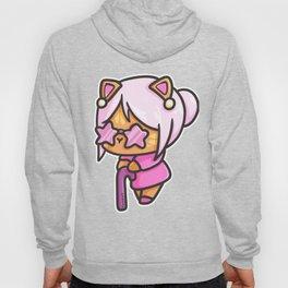 Pensioner old cat woman walking stick grandma comic gift Hoody
