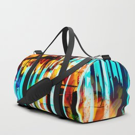 Floral Keys [orange+blue] Duffle Bag