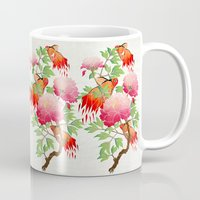 goldfish Mugs featuring goldfish by Manoou