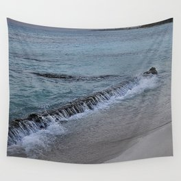 Gentle waves on Beach at Sunset  Wall Tapestry
