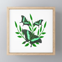 Emerald Swallowtail Butterflies Framed Mini Art Print