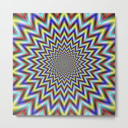 Pulsar in Red Yellow and Blue Metal Print