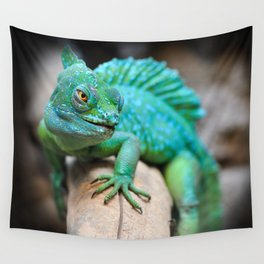 Gecko Reptile Photography Wall Tapestry