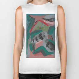 Lye Lady Lie Expressionist Shapes Abstract Painting Biker Tank