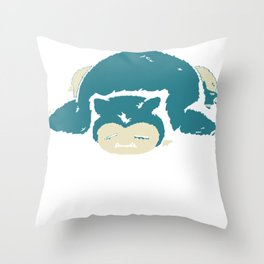 I Hate The Mornings Throw Pillow