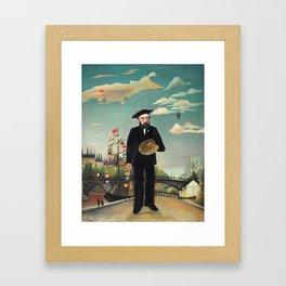 """Henri Rousseau """"Self Portrait from L'ile Saint Louis"""", 1890 Framed Art Print"""