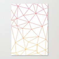 polygon Canvas Prints featuring polygon by OHOO SIX