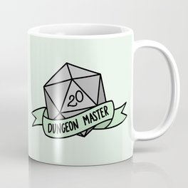 Dungeon Master D20 Coffee Mug