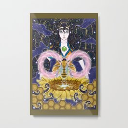 Pure Mother Bee Metal Print