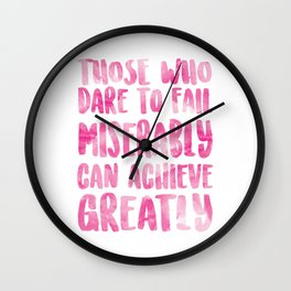 Achieve Greatly Wall Clock