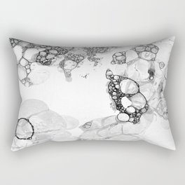 Bubbles Black and White Rectangular Pillow