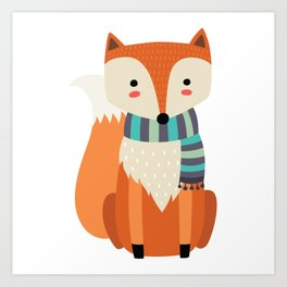 Friendly Fox Art Print