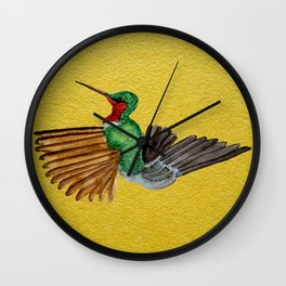 kingfisher in water color Wall Clock