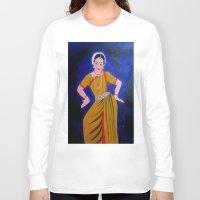 dancer Long Sleeve T-shirts featuring Dancer by Priyanka Rastogi