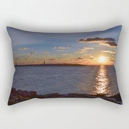 Twin Light Sunrise Rectangular Pillow