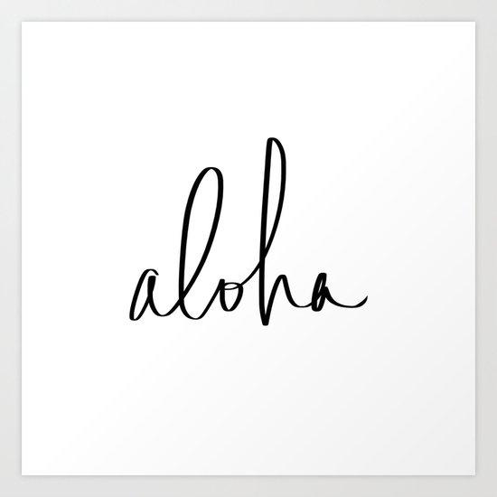 Aloha Hawaii Typography Art Print