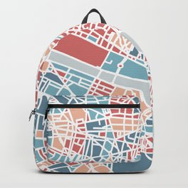 Colorful Paris map Backpack