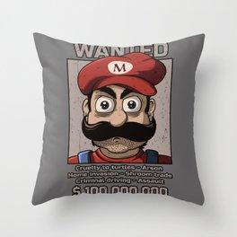 Wanted plumber Throw Pillow
