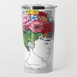 Flowered Hair Girl 2 Travel Mug