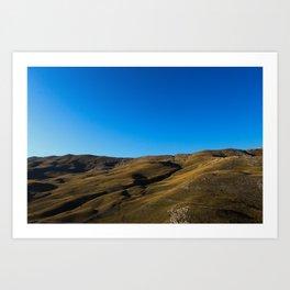 Mountain in the fall Art Print