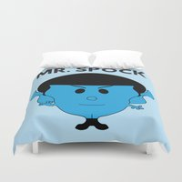 spock Duvet Covers featuring MR. SPOCK by minuitsurmars
