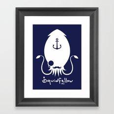White Logo Framed Art Print