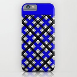 Combo black blue plaid iPhone Case