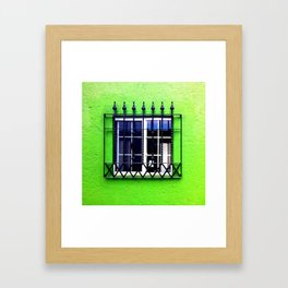 Green erectile Framed Art Print